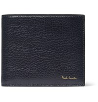 Paul Smith Full Grain Leather Billfold Wallet Blue
