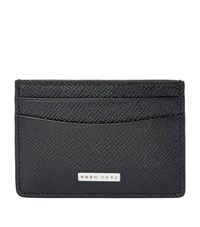 Boss Signature Leather Cardholder Unisex Black