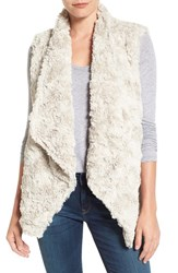 Dylan Women's Draped Faux Fur Vest