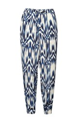 Great Plains Ashanti Printed Drape Trousers Blue