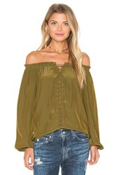 Ramy Brook Jackie Off The Shoulder Top Green