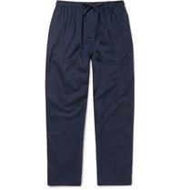 Derek Rose Nelson Cotton Pyjama Trousers Blue