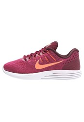 Nike Performance Lunarglide 8 Cushioned Running Shoes Noble Red Bright Mango Fuchsia Flux Bordeaux