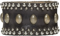 Dsquared Black Studded Leather Bracelet