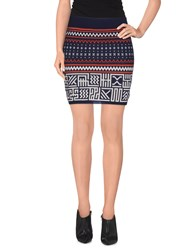 Supreme Being Skirts Mini Skirts Women Dark Blue
