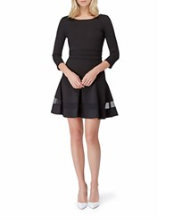 Erin Fetherston Sheer Panel A Line Dress Black