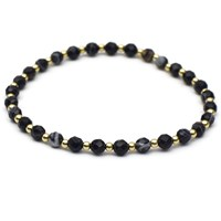 Esenelle David Bracelet Black Gold Nude