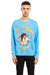 Jeremy Scott Ren And Stimpy Sweater Blue