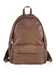 Brunello Cucinelli Solid Leather Backpack Brown