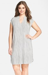 Plus Size Women's Tart 'Mellie' Print Split Neck Jersey Dress Snake Stripe
