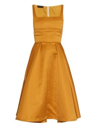 Rochas Pleated Duchess Satin Dress
