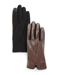 Lauren Ralph Lauren Color Stitch Gloves Coffee Black