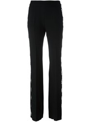 David Koma Studded Flared Trousers Black