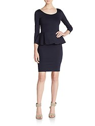 Alice Olivia Amanda Peplum Dress Navy