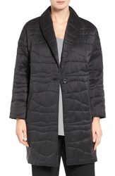 Eileen Fisher Women's Quilted Sandwash Silk Charmeuse Coat