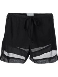 Lost And Found Rooms Sheer Drawstring Shorts Black