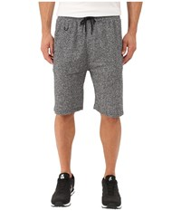 Publish Kieran Two Tone Heathered Terry Elastic Drawstring Shorts Black Men's Shorts