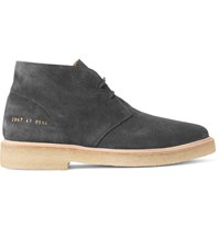 Common Projects Washed Suede Desert Boots Black