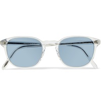 Oliver Peoples Fairmont Round Frame Acetate Sunglasses White