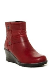 Keen Kate Leather Wedge Bootie Red
