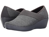 Crocs Busy Day Heathered Asymmetrical Wedge Dark Grey Women's Wedge Shoes Gray