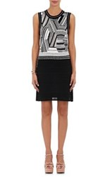 Missoni Women's Abstract Knit Shift Dress Black White Black White