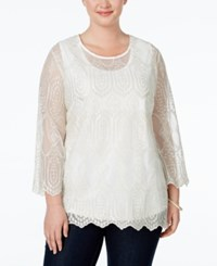 American Rag Plus Size Embroidered Blouse Only At Macy's White