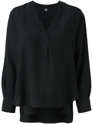 Paul Smith Ps By V Neck Blouse Black
