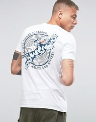 Cheats And Thieves Tiger Squadron Back Print T Shirt White