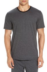 Daniel Buchler Men's Stripe Pima Cotton And Modal Crewneck T Shirt