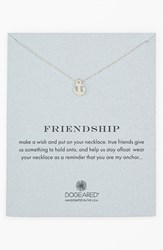 Women's Dogeared 'Reminder Friendship' Anchor Pendant Necklace Sterling Silver