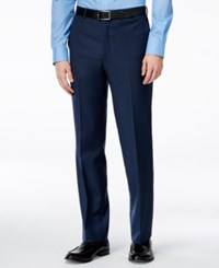 Kenneth Cole New York Navy Solid Slim Fit Pants