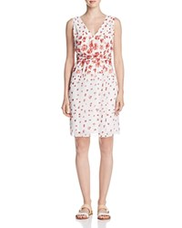 Max Studio Smock Waist Floral Dress Compare At 128 Ivory Bouquet