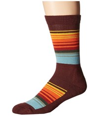 Pendleton National Park Crew Socks Great Smoky Mountain Stripe Crew Cut Socks Shoes Multi