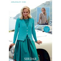 Sirdar Diamond Cardigan Dk Knitting Pattern 7773