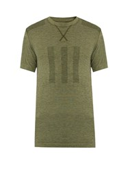 Adidas By Day One Seamless Performance T Shirt Green Multi