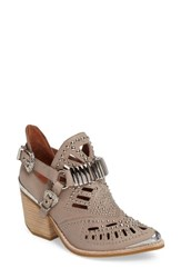 Jeffrey Campbell Women's 'Calhoun' Cutout Bootie Grey Silver Leather