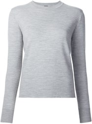 Adam By Adam Lippes Crew Neck Sweater Grey