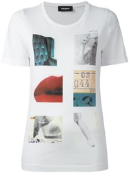 Dsquared2 Vintage Collage Image T Shirt White