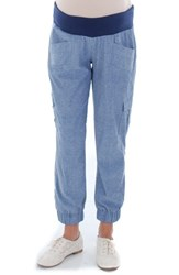 Women's Everly Grey 'Margo' Maternity Pants Chambray