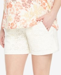 Motherhood Maternity Lace Shorts Cream Lace