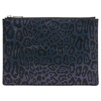 Whistles Leopard Snake Medium Clutch Navy