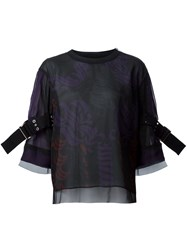Sacai Buckle Sleeve Blouse Black