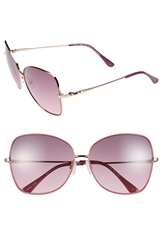 Bcbgmaxazria 'Sunkissed' 59Mm Butterfly Sunglasses Rose Gold