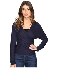 Lilla P Origami Top Peacoat Women's Clothing Blue