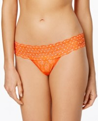 B.Tempt'd By Wacoal Lace Kiss Thong 970182 Cherry Tomato Polka Dot Accent