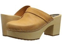 Swedish Hasbeens Louise Nature Women's Clog Shoes Neutral