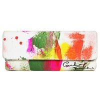 Carlos Falchi One Of A Kind Hand Painted Clutch Multi