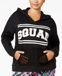 Material Girl Plus Size Squad Graphic Hoodie Only At Macy's Noir