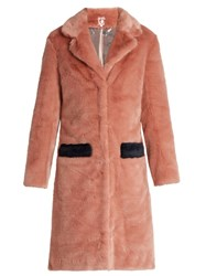 Shrimps Claude Faux Fur Coat Light Pink